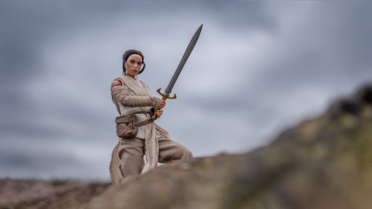 Rey playing with the bird's sword - Photo credit: Maelick